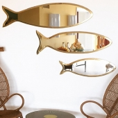 "Nice touch of nature and holidays in your home...⁠ Fish mirrors from ""Honoré Déco"": those products are unique creations, handcrafted in their Moroccan workshop.⁠ Available in 3 sizes, and other designs available too: cactus, pear, pineapple design, for all taste!⁠ .⁠ .⁠ .⁠ #mirror#fishdesignmirror#brass#brassmirror#handmade#honoredeco#frenchbrand#madeinmorocco#nature#homedecor#interiordecor#interiordesign#decoration#espelho#espelhodepeixe#decoraçãodecasa#natureza#feitoàmão#feito em Marrocos#lappartementbynanaki#lisbon#portugal"