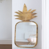 """PINEAPPLE MIRROR XL IN BRASS 🍍🍍🍍 From """"Honore deco"""", handcrafted in Morocco. @lappartementbynanaki, Lisbon. Nicely fitting in a bedroom, living room or even in a bathroom for a nature touch! . . . #mirror #pineapplemirror #brassmirror #honoredeco #madeinmorocco #handcrafted #homedecor #interiordesign #bedroom #livingroom #bathroom #naturetouch #jungletouch #decor #design #style #instadeco #decoration #lifestyle #lappartementbynanaki #lisbon"""