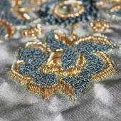 """""""Zardosi"""" work is a type of embroidery we can find in few countries including India, Pakistan and Bangladesh. Zardozi comes from two Persian words: zar or zarin meaning 'gold', and dozi meaning 'sewing'. It's a type of heavy and elaborate metal embroidery on a silk, satin, or velvet fabric base, it can be done on leather as well. Designs are often created using gold and silver threads and can incorporate pearls, beads, and precious stones. Today, it is used as decoration on clothes or home decor, but historically, it was used to adorn the walls of royal tents, scabbards, wall hangings and the paraphernalia of regal elephants and horses. You can find this beautiful work on some accessories in """"Nana Ki"""" Collection, as well as on shoes from """"Meher Kakalia"""" brand. . . . #embroidery#handembroidery#zardosiembroidery#fromindia#frompakistan#frombangladesh#nanaki#meherkakalia#beautifulhandwork#metalthreads#pearls#beads#forclothes#foraccessories#bordadoàmão#belotrabalhodemão#fiodemetal#da Índia#lisbon @lappartementbynanaki"""