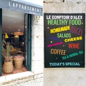"""@L'APPARTEMENT by Nana Ki, we have also a coffee shop: """"Le Comptoir"""" where Alex is the """"chef"""" of the kitchen; passionate about gastronomy and good wines, he offers his best recipes and welcome you for lunch with tapas, salads, toast, quiche, soups, with everyday some specials...you can always make a break during the afternoon for a sweet pause, sipping one of his homemade juices, teas & coffees, or stop by for an afterwork for a great burgundy wine from his cellar, and a cheese or cold cut plate. . . . #coffeeshop#lecomptoirdalex#healthyfood#organic#homemadejuices#green#soups#tarts#toast#quiche#cheese#coldcut#wine#coffees#teas#herbalteas#foodlover#comidasaudáveis#sucoscaseiros#vinho#amantedacomida#sopas#tortas#torradas#sobremesa#chá#chádeervas#café#orgânicos @lappartementbynanaki #lisbon"""