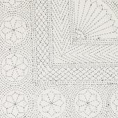 "Close up of a beautiful contemporary pattern made in khanta stitch embroidery. Bedcover from ""The BO.HE.MI.AN Project"". . . . #bedcover#purcotton#white&black#khantastitch#khantaembroidery#madeinindia#gujarat#handmade#handembroidery#homedecor#forbed#bedroomdecor#capadecama#bordadokhantaponto#feitonaindia#feitoàmão#bordadoàmão#algodão#thebohemianproject#lappartementbynanaki#lisbon"